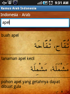 kamus arab indo - indonesia arab
