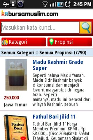 Aplikasi Android Bursa Muslim