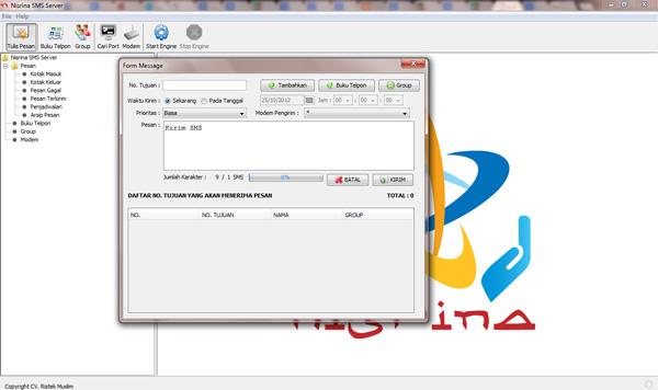 Nisrina SMS Server