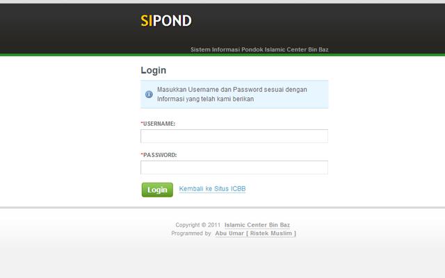 SIPOND - Login